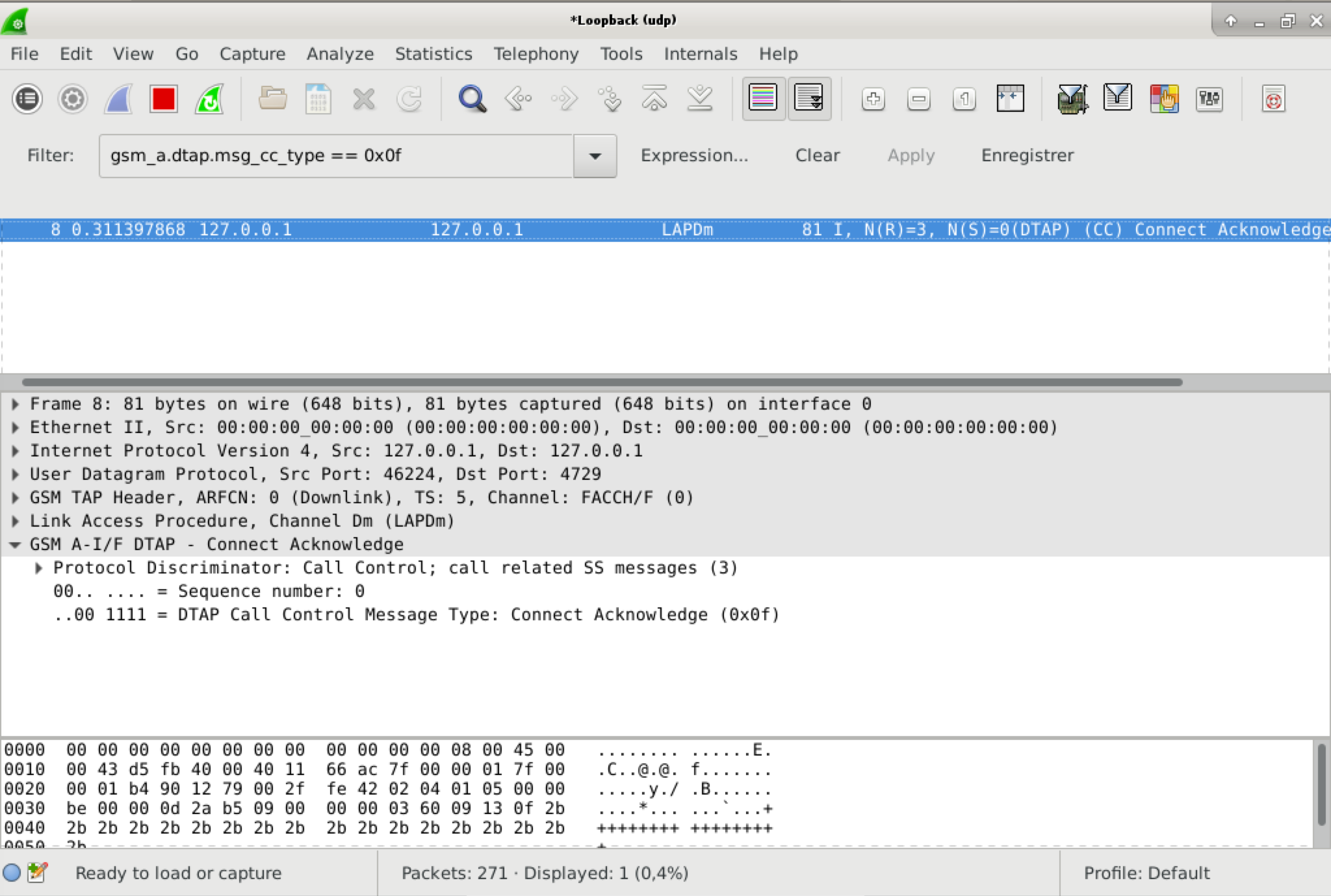capture d'écran wireshark montrant un Connect Acknowledge